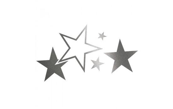 Foliatec Cardesign Sticker - Stars - graphite - Width 63cm x Height 39cm