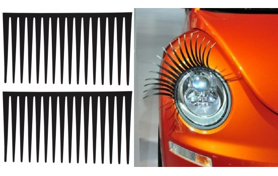 Simoni Racing Self-Adhesive Headlight Eyelashes - Black - Set of 2 pieces