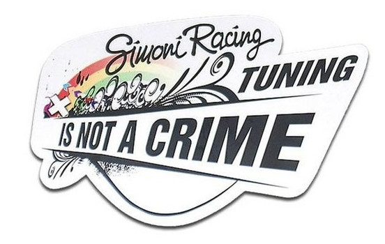 Simoni Racing Sticker 'Tuning is not a crime' - 150x100mm