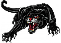 Sticker Panther - black - 18x12cm