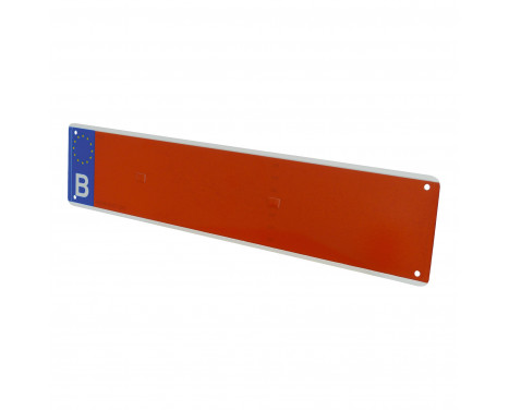 Number plate agriculture red