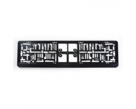 Plastic Number plate holder 'Click' 52x11cm Black