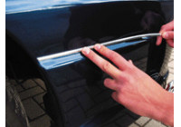 Universal self-adhesive chrome frame - U-profile / Length 5 meters