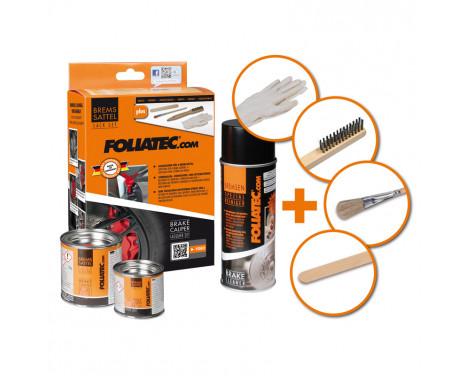 Foliatec Caliper paint set - midnight black mat - 3 components, Image 3