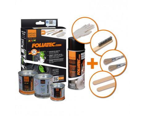 Foliatec Caliper paint set - NEON red - 4 Components, Image 4