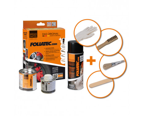 Foliatec Caliper paint set - Performance Red glossy- 3 Components, Image 2