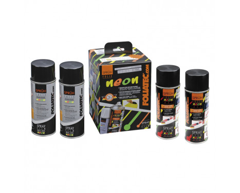 Foliatec Spray Film NEON 4-piece Set - red 2x400ml + base layer 2x400ml
