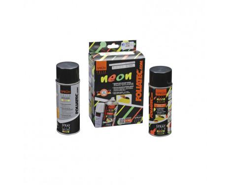 Foliatec Spray Film (Spray Foil) NEON 2-piece Set - yellow 1x400ml + base layer 1x400ml