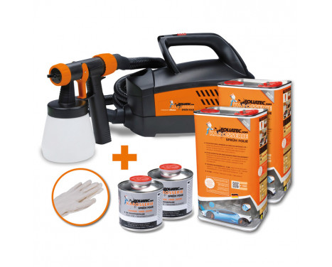 Foliatec Spray System - urban silver metallic mat - Spray gun - Kompressor - 12m hose - 2x5litre, Image 2