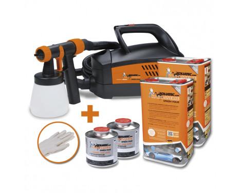 Foliatec Spray System - white mat - Spray gun - Kompressor - 12m hose - 2x5litre + 500ml thinner