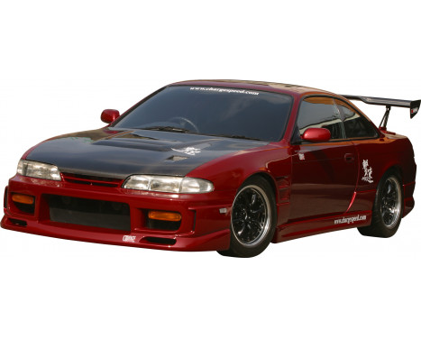 Chargespeed Front bumper Nissan S14 1st Series (FRP), Image 2
