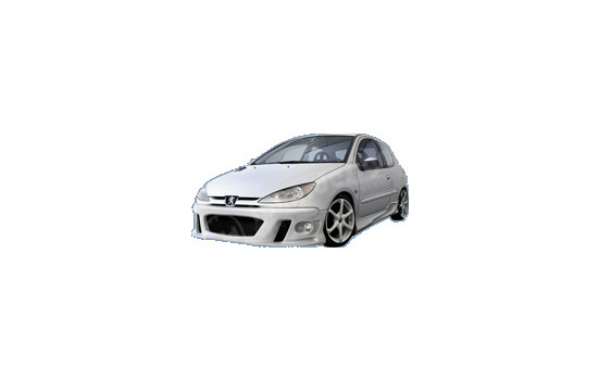 IBherdesign Front bumper Peugeot 206 'MaxStyle' Incl. Lamps / mesh