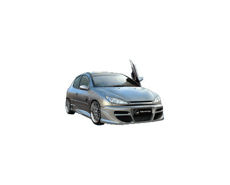 IBherdesign Front bumper Peugeot 206 'Tekno' Incl. Mesh