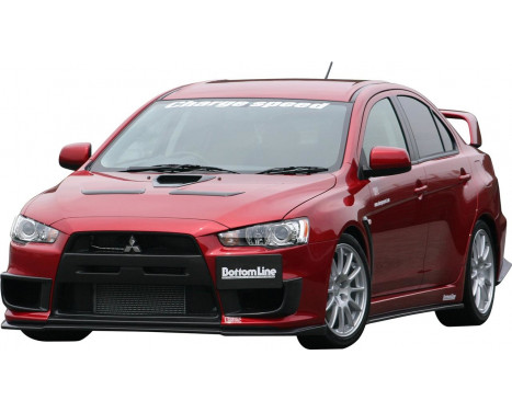 Chargespeed Front spoiler Mitsubishi Lancer Evo X CZ4A Bottomline (FRP)