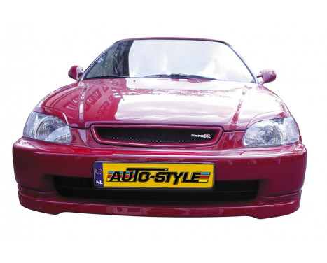 Front spoiler Honda Civic 1996-1999 'JDM Type-R Look' ABS, Thumbnail 2