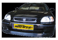 Front spoiler Honda Civic 1996-1999 'Mugen Look' (ABS)
