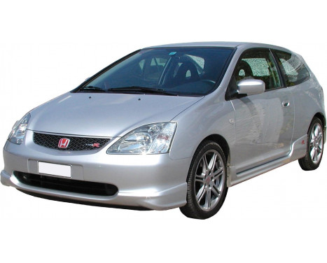 Front spoiler Honda Civic HB 3/5-door 2001-2005 'R-Look' (ABS), Thumbnail 2