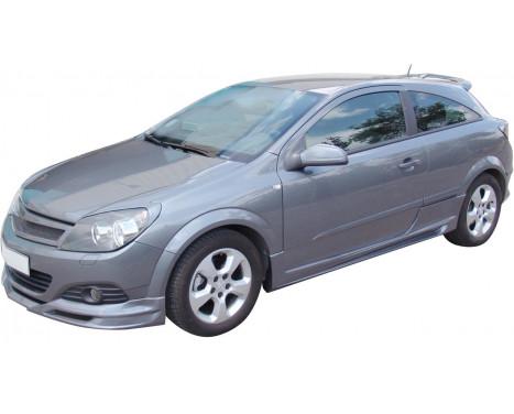 Front spoiler Opel Astra H GTC 3 doors 2005-2009 (ABS)