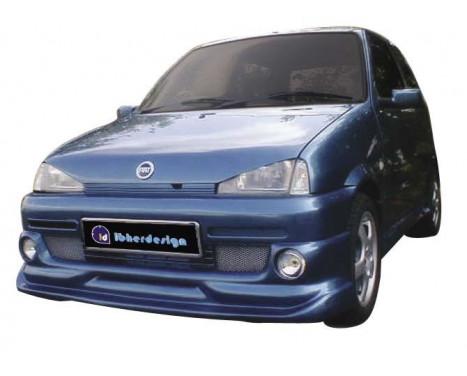 IBherdesign Front spoiler Fiat Cinquecento 'Phantom' Incl. Lamps