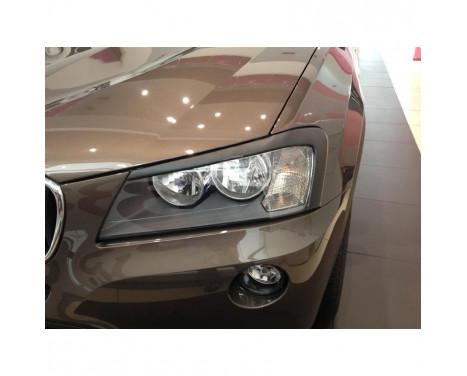 Headlight spoilers BMW X3 F25 2010- (ABS)
