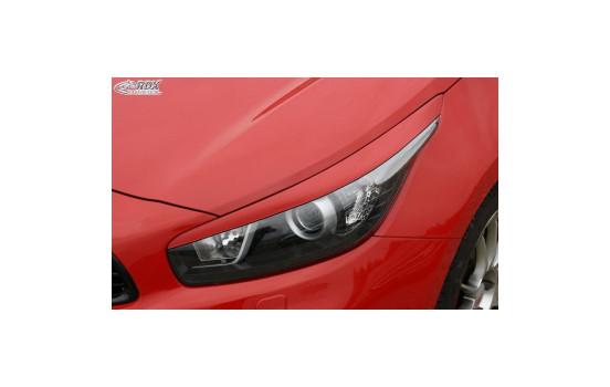 Headlight Spoilers Kia Cee'd & Pro Cee'd JD 2012- (ABS)