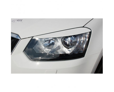 Headlight Spoilers Skoda Yeti 2014- (ABS)
