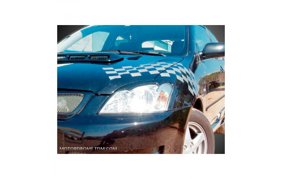 Headlight spoilers Toyota Corolla E12 Hatchback 2002-2007 (ABS)