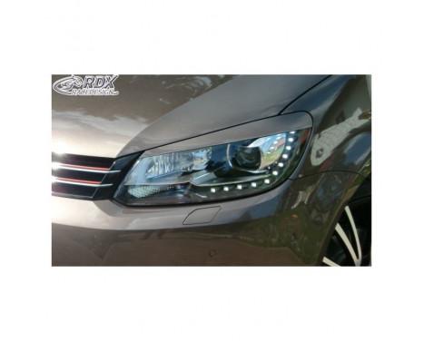 Headlight Spoilers Volkswagen Touran 1T1 Facelift 2011-2014 & Caddy 2010-2015 (ABS)
