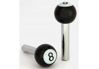Universal door handle 8 ball - Black - set of 2 pieces