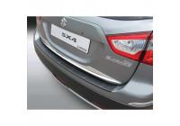 ABS Rear bumper protector Suzuki SX4 S-Cross 10 / 2013- 'Ribbed' Black