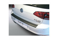 ABS Rear bumper protector Volkswagen Golf MK VII 3/5 doors 2013- Black
