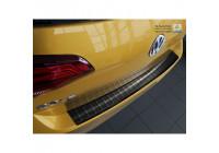 Black stainless steel rear bumper protector Volkswagen Golf VII HB 5-door 2012-2017 & 2017- 'Ribs'