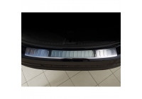 Stainless steel rear bumper protector Volvo V60 2010- 'Ribs'