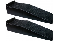 Plastic ramps - black - set of 2 pieces (Height 17cm)
