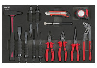 Hammer, pliers & chisel set (4 German) 14 pcs. SFS