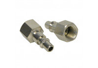 Adapter 1/4 inch male female thread 1/4 inch 2 pieces