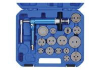 Brake piston reset tool set pneumatic 16 pcs.