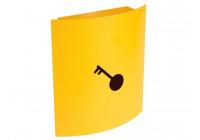 KEY BOX - 215 x 63 x 245 mm - YELLOW