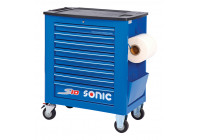 Tool trolley empty S10 8 loading blue (RAL5005)