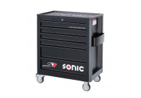 Filled tool trolley 140 pcs. 6 drawers black S7