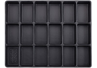 Tray, empty 18 compartments (290x370x48mm)