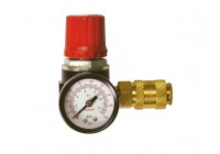 Pressure regulator with air pressure gauge and air valve - 1/4