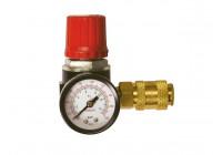 Pressure regulator with air pressure gauge and air valve - 1/4