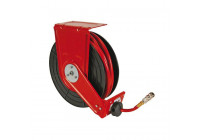 Self-retracting air hose reel - 15m