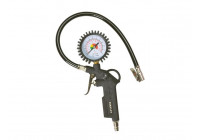 Tire blower with air pressure gauge