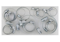Assortment of hose clamps 26 pieces