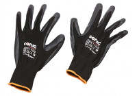 PU-flex working glove black size 9 (L)