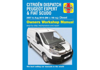 Haynes Workshop manual Fiat Scudo, Peugeot Expert diesel (2007-2016)