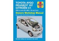 Haynes Workshop manual Citroën C1, Peugeot 107 & Toyota Aygo petrol (2005-2014)