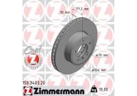 Brake Disc COAT Z 150.3403.20 Zimmermann